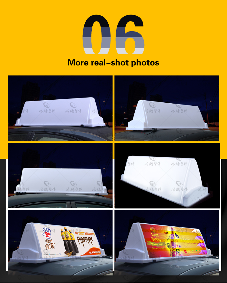 PP material high brightness lights taxi top advertising