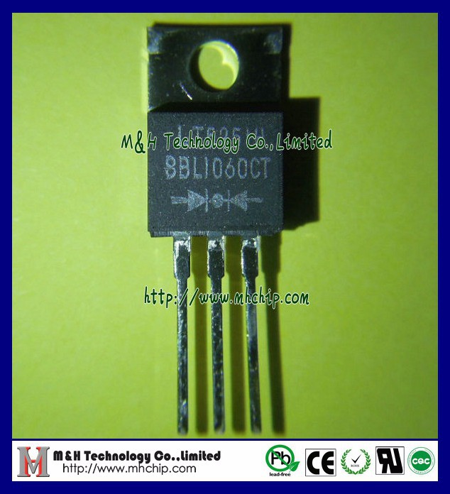10A Schottky Barrier Rectifier SBL1060CT use in low voltage,high frequency inverters,Free wheeling