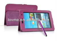 Purple Leather Smart Case Cover for Samsung Galaxy Tab 2 P3100 P3110