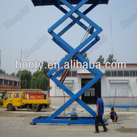 Factory Directed electric pump stationary scissor car elevator platform