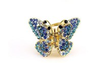 Beautiful Alloy Crystal Material Type Butterfly Hair Claw for Women