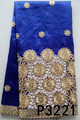 Royal blue african plain george fabrics embroidery george fabrics beaded raw silk george