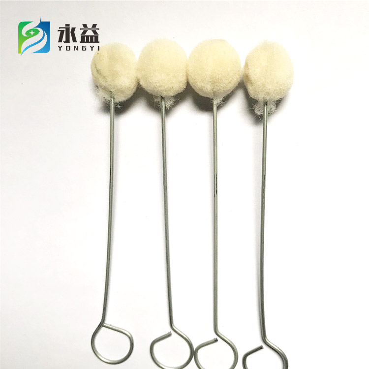 Selling well all over the world mini wool dauber cleaning brush