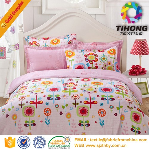 Cheap discount stock printed cotton bed fabric material and textile