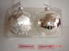 Hanging large floating glass ball ornaments