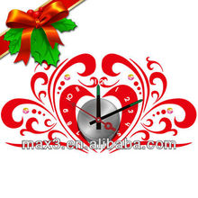 Hokage red love and popular clock for study room christmas decor