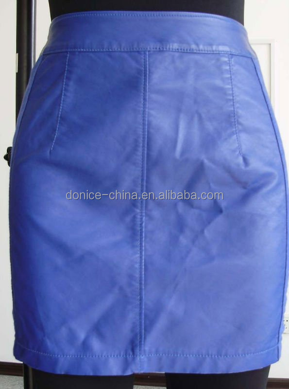 Ladies lamb leather skirt sexy girl mini skirt