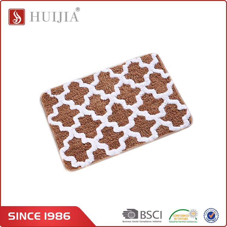 HUIJIA Chinese Supplier Custom Plastic Washable Jacquard Style Carpet Mat For Kids Playing