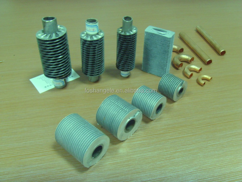 Stainless steel chilled water cooling coil &finned tube for dry laminating machines