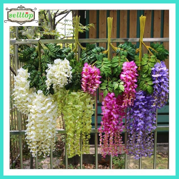 75-110cm artificial wisteria flower for wedding stage decoration