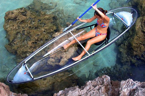 Whynot professional clear kayak canoe 2 person transparent kayak