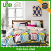 Reactive printed duvet cover set modern home textile 100% cotton
