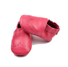 Genuine Leather Baby Moccasins Multicolor Handmade Toddler Girls Shoes for Kids 0-24M