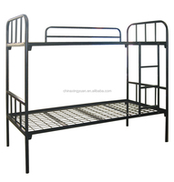 NewField cheap heavy duty metal Strong dormitory military double steel army bunk bed with iron stepladder