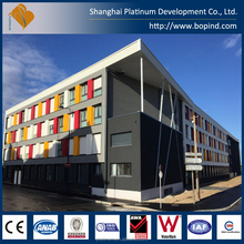 prefabricated steel building apartment for students' accommodation
