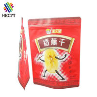 High quality aluminum foil stand up packing pouch for 500g dried fruit packaging bags with tear notch and zipper