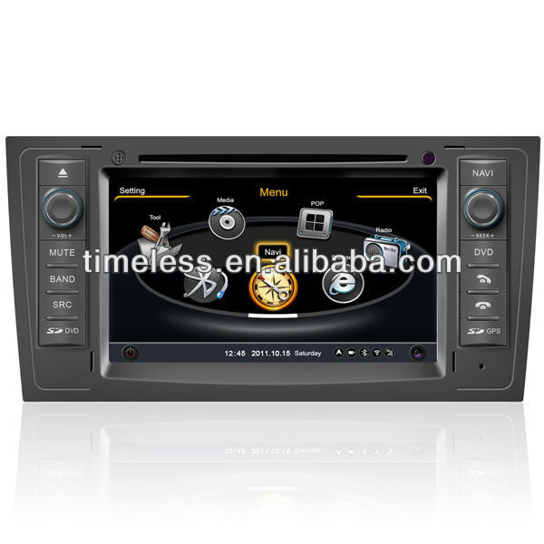Car DVD GPS Audi A6 with Russian Menu Phonebook S100 System