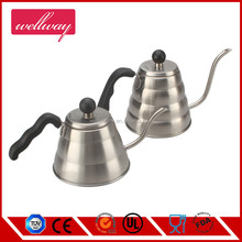 Small Stainless Steel Gooseneck Pour Over Drip Coffee Kettle/Fine Mouth Handing Teapot with Bakelite Handle