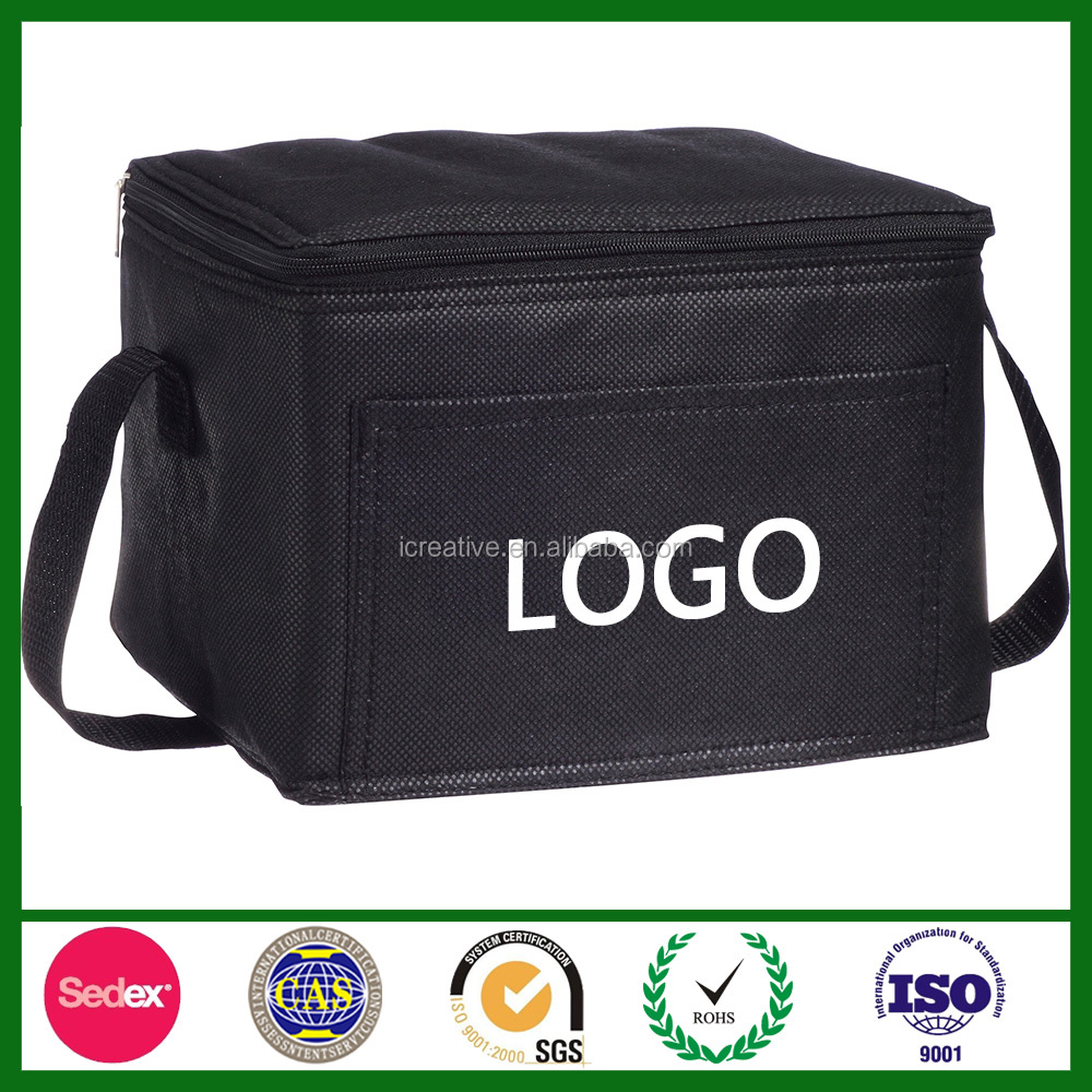 Custom LOGO Printed Insulated Non Woven Lunch Bag, Insulated Cooler Bag, Non Woven Cooler Box