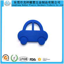 BAP Free Solid Color Car Silicone Funny Baby Teether For Infant And Toddlers