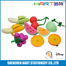 Fake Fruit And Vegetables Shaped Erasers