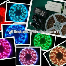 Decorative 60leds/m Flexible rgb led light strip 12v led waterproof mini rope light