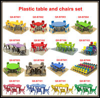 wholesale folding children plastic table and chair for preschool furniture,kids study table and chair for kindergarten furniture