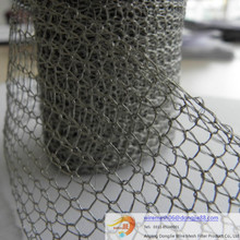 Flat type and Corrugated type Copper Knitted Wire Mesh/Class A Stainless Steel Knitted Wire Mesh for oil and gas filter