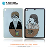 Blank sublimation TPU case with metal plates for iPad mini4