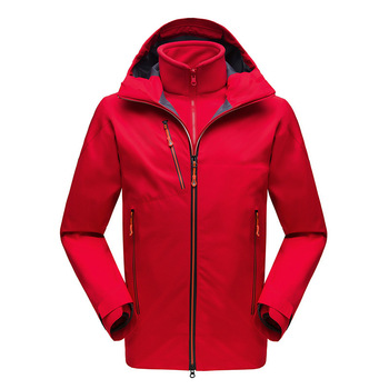 Mens Jacket Red Water proof Warm Heat-seal Jacket For Winter Men