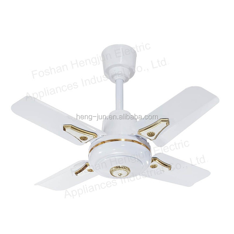 Small size new industrial white blades indoor mini 24 25 36 ceiling fan with four blade view - Ceiling fan short blades ...