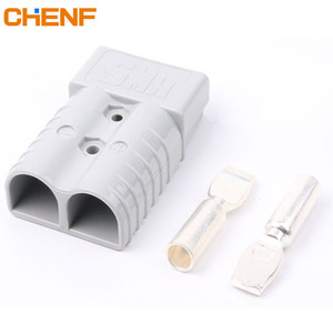Grey 2pin Universal 50A Battery Charger Connector Connect Plug for Winch Trailer