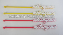 colorful plastic food stirrer