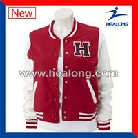 Healong Without Brand Free Sample Sublimation Baseball Jacket
