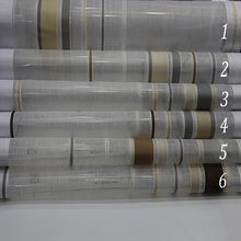 Latest hotel office stripe sheer curtain fabric for modern curtain