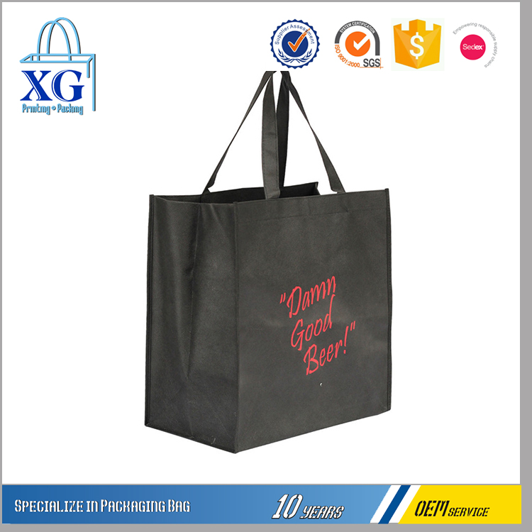 no minimum fashion custom non woven shopping bags