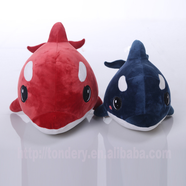embroidery safety eyes stuffed soft sea life animal plush whale toys for kids