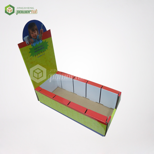 drug store front counter top recycle cardboard POS display stands