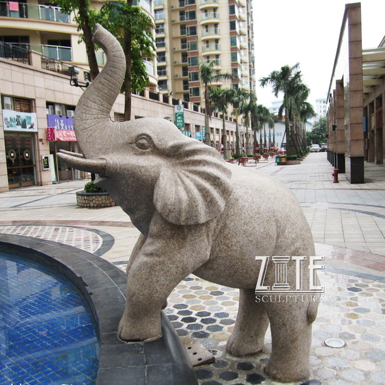 Outdoor Garden Ornament stone elephant fountain