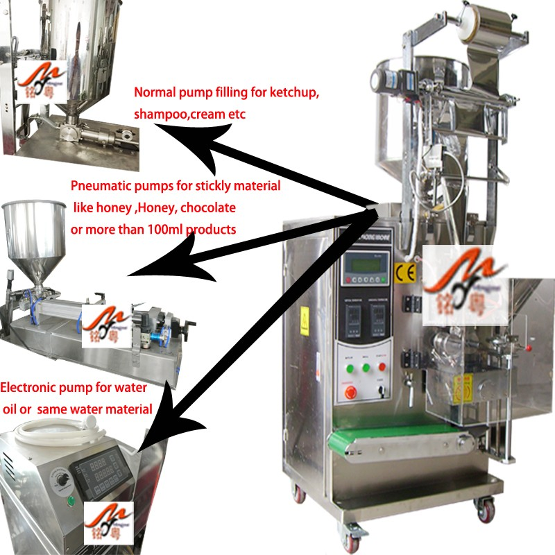 3 or 4 side sealing liquid packing machine new detail