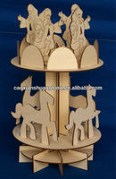 Hot sale Wooden 3D DIY puzzle nativity Christmas decorations