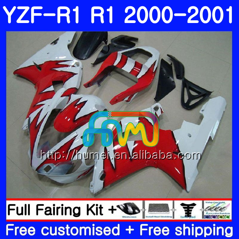 Body For YAMAHA YZF R 1 YZF 1000 YZF-<strong>R1</strong> 00-01 Bodywork 98HM27 YZF1000 red flames YZF-1000 YZF <strong>R1</strong> 00 01 YZFR1 2000 <strong>2001</strong> <strong>Fairing</strong>