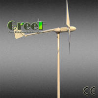 Low noise 10kw 120v horizontal wind power generator for sale with low torque and low price