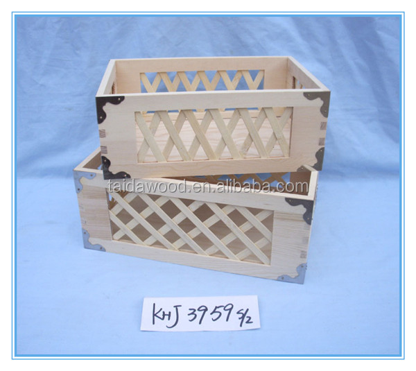 Collapsible Wooden Storage Crate,Wood Box Packaging