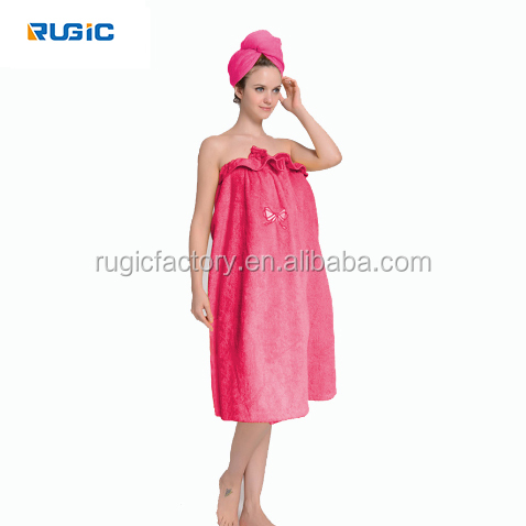 High Quality Women Bath Towel 100% Bamboo Cotton Body Wrap In Natural & Soft Wear Towel
