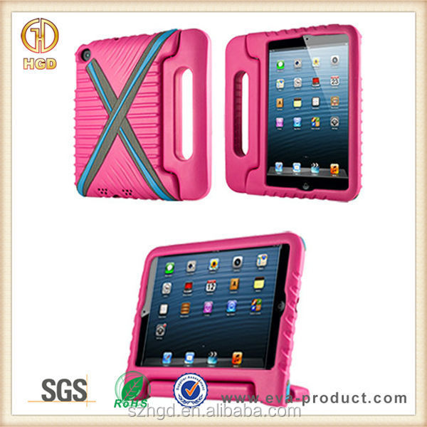 2015 New arrival silicone protective cover for ipad mini tablet pc case