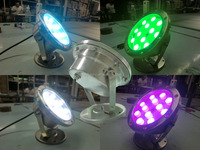 RGB Led Underwater Swimming Pool Light Fountains Lamp Remote Control