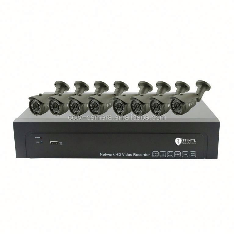 H.264 8ch CCTV Camera System / 8 CCTV Cameras / 8ch NVR Kit 1080P IP Camera System wireless outdoor security camera systems