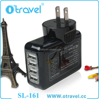 4 Port USB Output Home Wall Travel Charger 5V 2.1 Amp AC Power Adapter with US Plugs