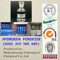 ISO 9001 Factory of Hydrogen Peroxide 50% for Mining/Paper/Textile